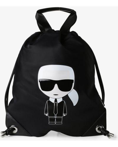 Czarny plecak sportowy Karl Lagerfeld