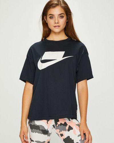 Спортивная футболка свободная темно-синий Nike Sportswear