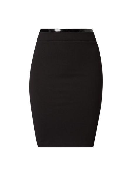 Czarna spódnica ołówkowa w paski z wiskozy Guess