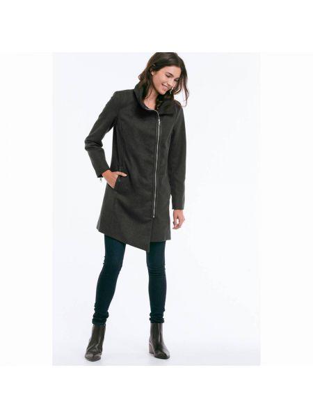 Пальто классическое на молнии расклешенное Ellos
