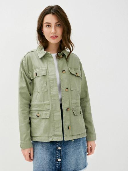 Зеленая облегченная куртка B.young