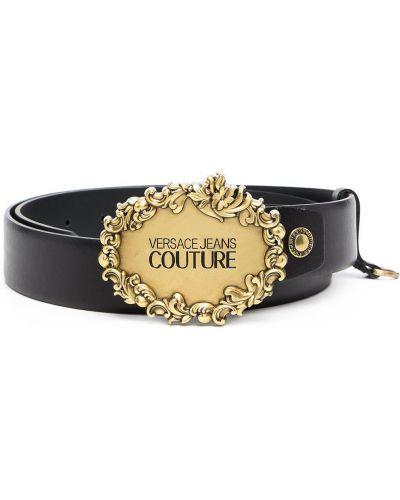 Złoty pasek - czarny Versace Jeans Couture