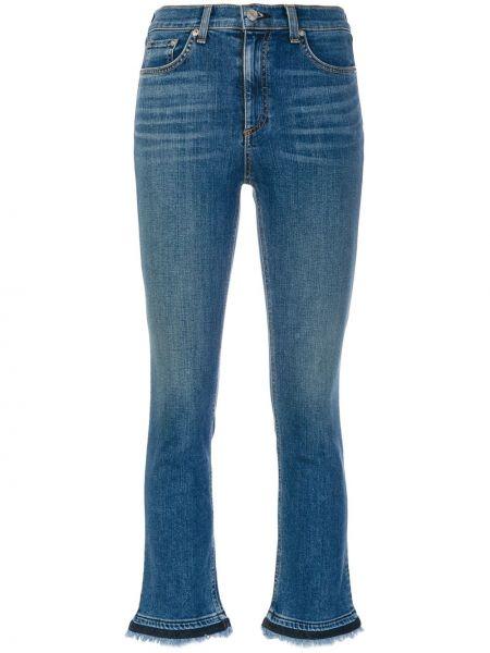 Укороченные джинсы скинни синие Rag & Bone/jean