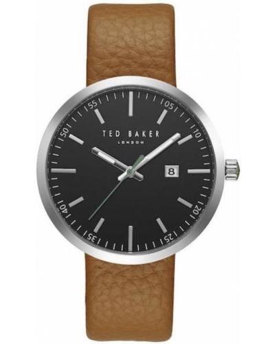 Szary zegarek na skórzanym pasku skórzany kwarc Ted Baker