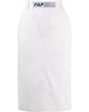 Прямая юбка миди на молнии с поясом в рубчик Filles A Papa