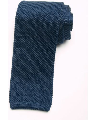 Галстук итальянский синий Gallieni