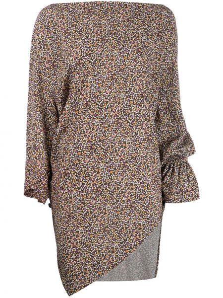 Топ асимметричный с цветочным принтом Vivienne Westwood Anglomania