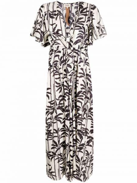 Платье из вискозы с принтом с короткими рукавами Diega