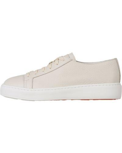 Beżowe sneakersy Santoni
