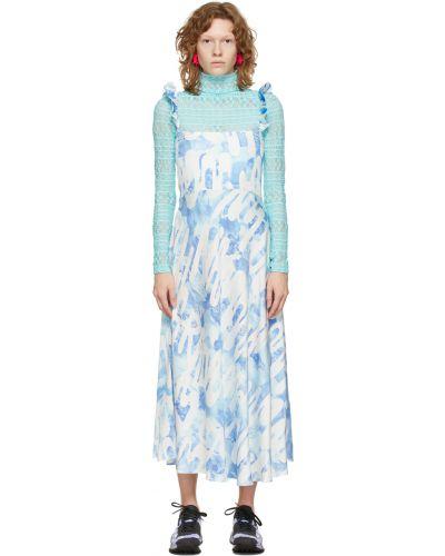 Satynowa sukienka - niebieska Collina Strada