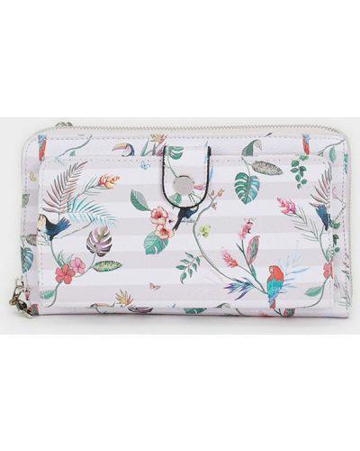 Skórzany portfel różowy Parfois