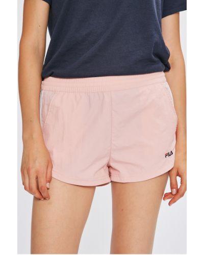 Спортивные шорты с завышенной талией розовый Fila