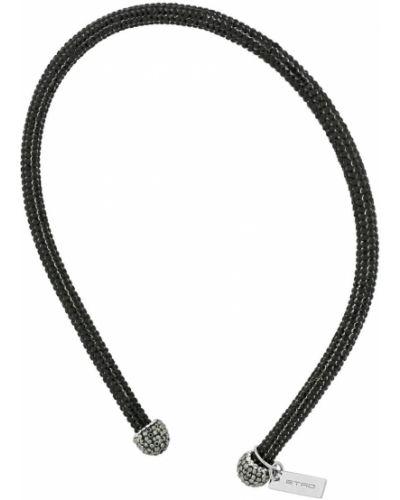 Черный ободок с глиттером Etro
