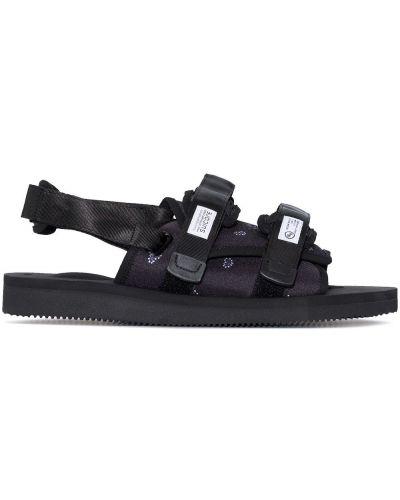 Sandały peep toe - czarne Suicoke