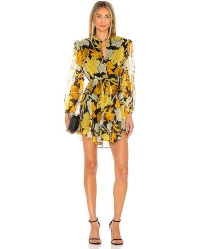 Желтое платье с подкладкой Milly