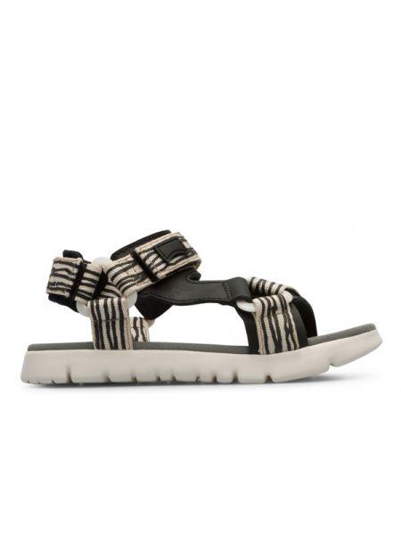 Czarne sandały na rzepy miejskie Camper