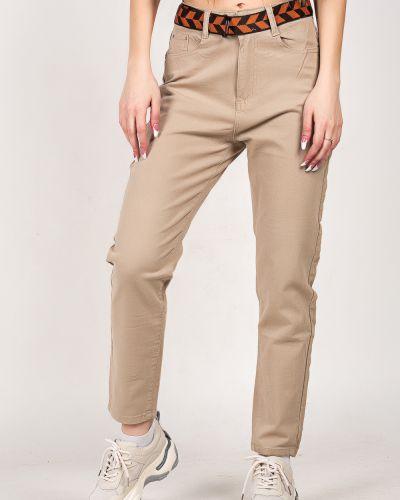 Бежевые хлопковые джинсы Denim
