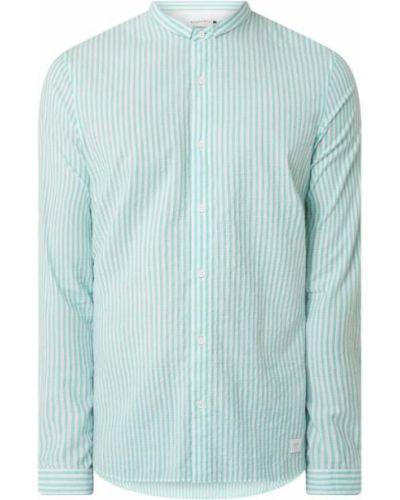 Koszula slim bawełniana w paski z długimi rękawami Nowadays