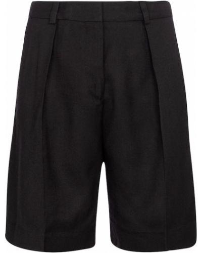 Черные шорты из вискозы Victoria Victoria Beckham