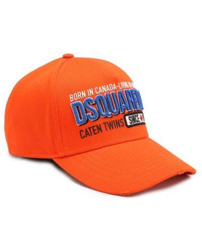 Оранжевая бейсболка Dsquared2
