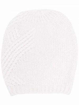 Белая шапка из альпаки Peserico