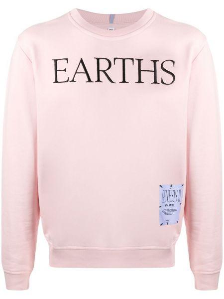 Bawełna prosto różowy bluza z długimi rękawami Mcq Alexander Mcqueen
