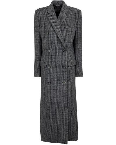 Серое пальто длинное Magda Butrym