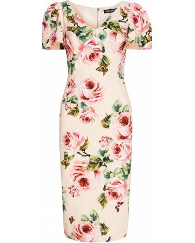 Платье миди футляр приталенное с розами Dolce&gabbana