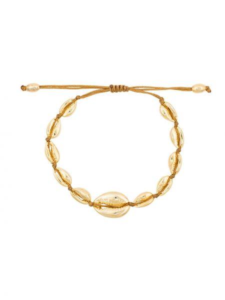 Желтый золотой браслет металлический Tohum