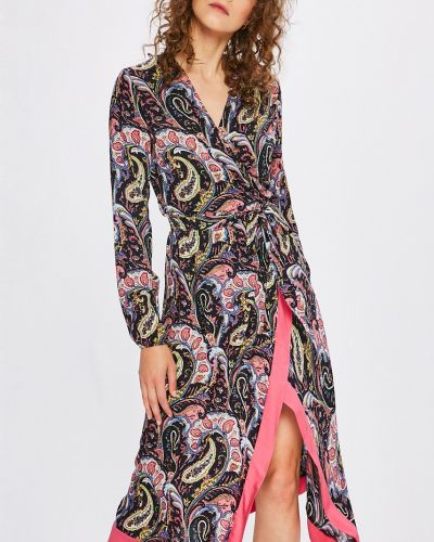 Платье миди с запахом в стиле бохо Answear