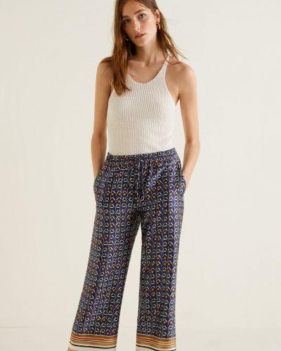 Широкие брюки прямые с карманами Mango