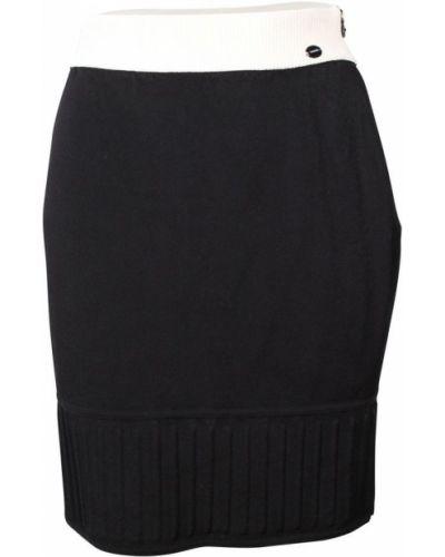 Spódnica z wysokim stanem elegancka z wiskozy Chanel Vintage