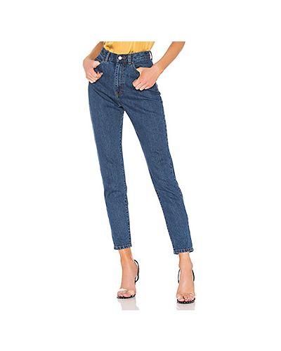 Прямые джинсы mom синие Dr Denim