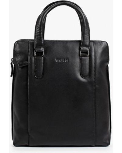 Кожаная сумка - черная Vitacci