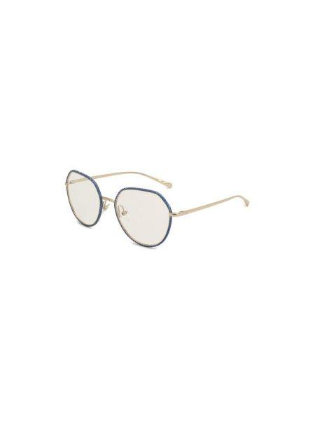 Комбинированные синие очки Chanel