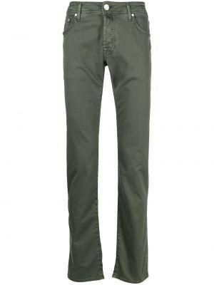 Зеленые прямые джинсы классические с карманами Jacob Cohen