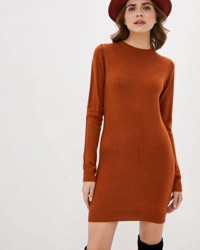 Оранжевое вязаное платье Brave Soul