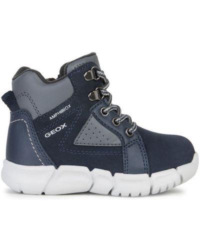 Ботинки мембранные синие Geox