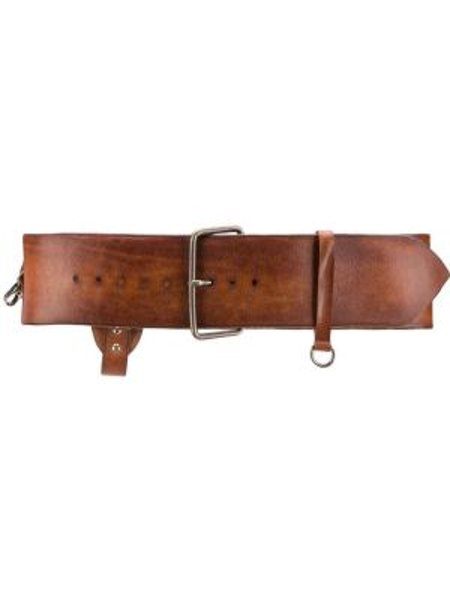Коричневый кожаный ремень Ann Demeulemeester