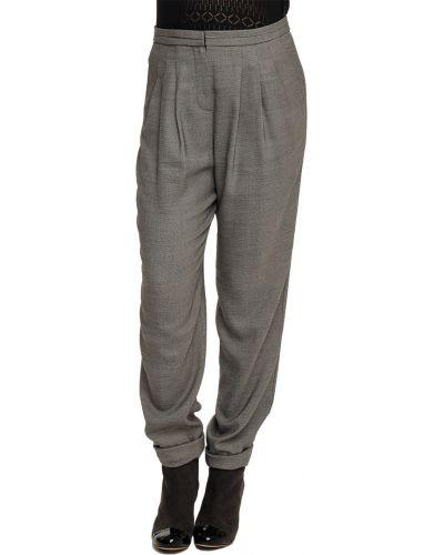 Шерстяные брюки - серые Armani Collezioni