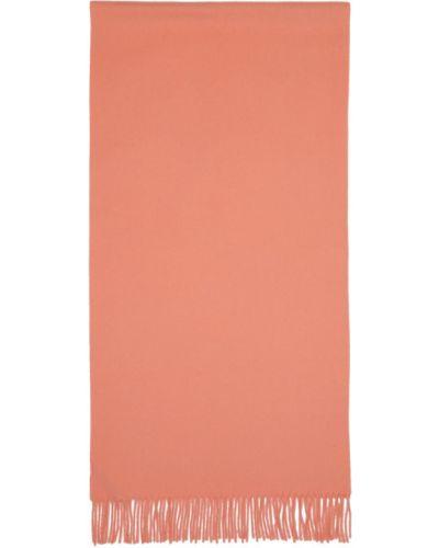 Розовый шерстяной шарф прямоугольный Acne Studios