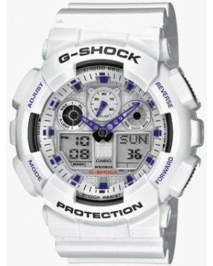 Часы белые стрелочные Casio