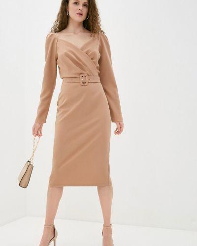 Бежевое платье-футляр Imocean