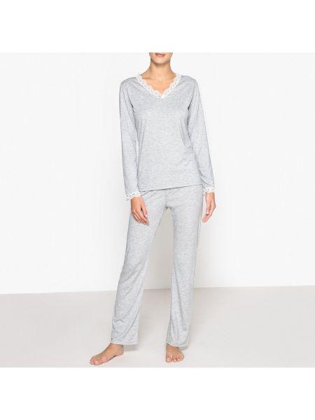 Пижама с брюками с длинными рукавами пижамный La Redoute Collections