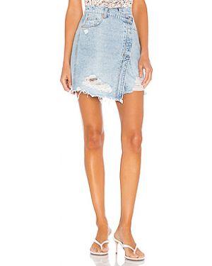 Хлопковая плиссированная юбка мини с карманами Free People