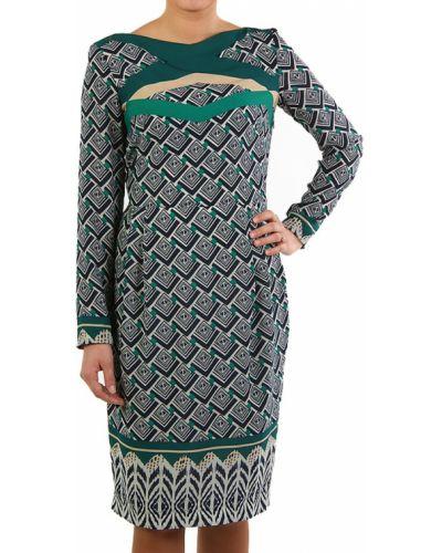 Платье осеннее зеленый Perspective