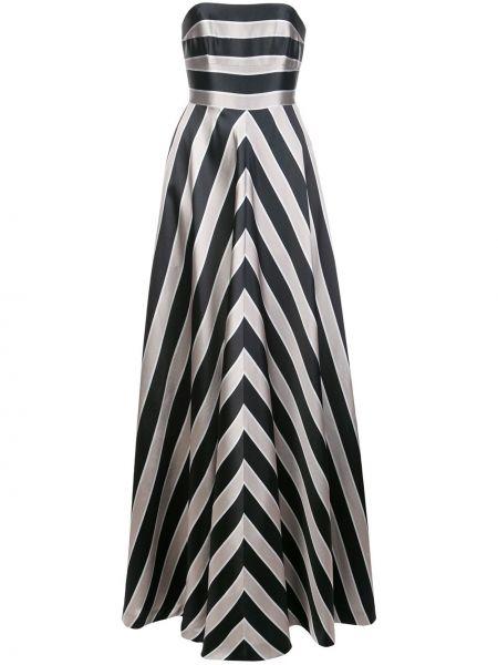 Вечернее платье макси в полоску Halston Heritage