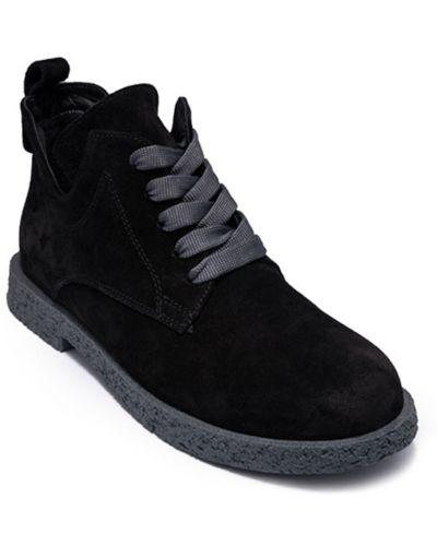 Замшевые черные ботинки Alpino