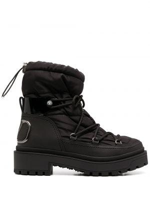 Кожаные ботинки - черные Valentino Garavani