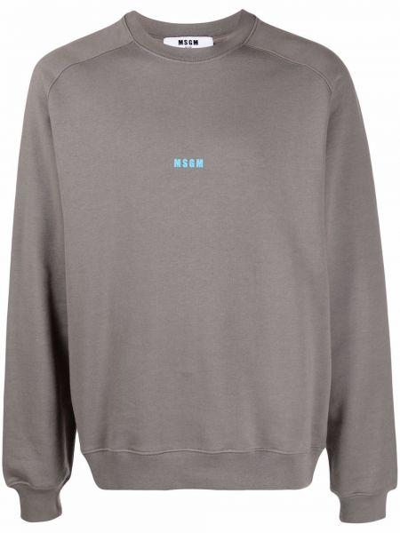 Bluza dresowa - niebieska Msgm
